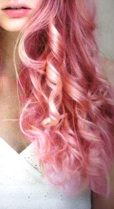 Pink curly hair. awnnnn.