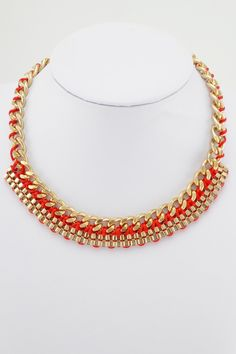 Red Knitted Statement Necklace £9.99 with free UK delivery in all orders, what are u waiting for? Bag that!