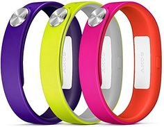 Sony Mobile SmartBand Wrist Straps Armbänder Small A1 in 3er Pack - Lila/Gelb/Pink