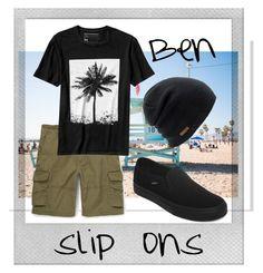 """Ben"" by littleredumbrella ❤ liked on Polyvore featuring Polaroid, Vans, Banana Republic, Coal, men's fashion, menswear and slipons"