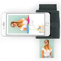 """The Prynt Pocket Instant Photo Printer for iPhone lets you print photos right off your iPhone pretty easily. You can print anything from your camera roll, or you can shoot photos and print them in """"real time"""" as well. Smartphone, Iphone Printer, Caleb Y Sofia, Cool Gadgets For Men, Unique Gadgets, Camera Deals, Best Gifts For Mom, Mom Gifts, Gadget Shop"""