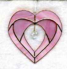 Stained Glass Valentine Heart Suncatcher