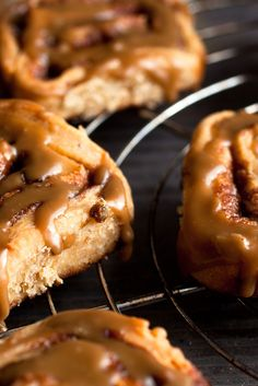 NYT Cooking: Cinnamon rolls get the grown-up treatment here, with muscular brown sugar used in place of white, and a splash of bourbon in the glaze for bite. The flavor is heavenly, the smell ambrosial &mdash