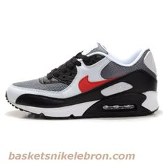 Air Max Femme Nike Air Max 90 Premium Metallic Silver / Varsity Rouge / Blanc Amant Pas cher