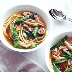 Chicken Noodle Bowl | CookingLight.com #myplate #protein #vegetables
