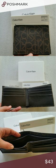 NWT authentic Calvin Klein men s wallet Brand new in ibox Great for gift  Calvin Klein Bags 6db10ca43fe03