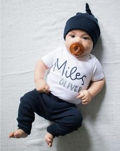 f0dc9bf61db2 Personalized baby boy coming home outfit