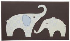 Carter's Blue Elephant- Canvas Wall Art | Free Shipping Casa.com
