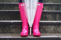 bottes pluie boots Hunter roses