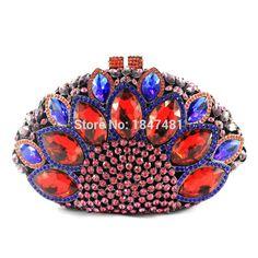 New Design Peacock Shape Evening Bag Green Stone Crystal Luxury Clutch Bag  Diamond Ladies Handbags Party Purse Wedding Bag 88151 c6d670ba96b0