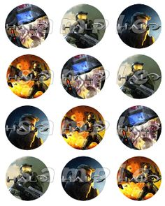 HALO 2.5 ROUND STICKERS  easy peasey :)