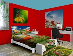 Build A Room at http://www.visionbedding.com/Spring-Poppies_Bedroom-rm-20478  #Home Decor