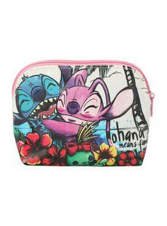Disney Lilo and Stitch Angel Ohana Cosmetic Bag | Hot Topic