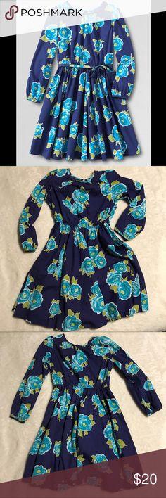 Lands' end kids sz 7 Floral twirl dress Excellent condition (missing belt) girls sz 7 lands' end long sleeve woven floral twirl dress. Lands' End Dresses Casual