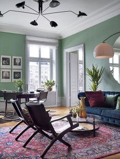 Ideas and inspiration Contemporary Interior Design, Apartment Inspiration, Living Room Sets, Living Room Green, Room Set, Interior, Home Decor, House Interior, Interior Architecture