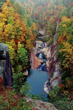 Tallulah Gorge/Talullah Falls State Park in Rabun County, Georgia - USA