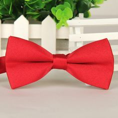 SHENNAIWEI 2016 new high-end wedding men's butterfly red bow tie solid color gravatas borboleta Groom fashion lote wholesale