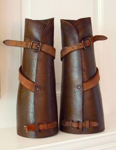 Pair of Vintage Leather Half Chaps, Equestrian, Ralph Lauren Look