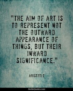 The aim of art is a personal thing and is both received and given as a personal thing . . .