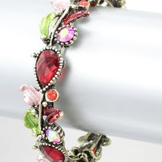 #185 Red Rhinestone Bangle from Lunga Vita Designs, Inc. for $9.00 on Square Market