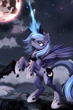 Princess Luna raising the moon.