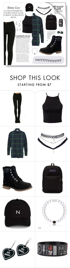 """Skinny Love"" by caitlindaniellejohnson ❤ liked on Polyvore featuring NLY Trend, Essentiel, Wet Seal, Timberland, JanSport, New Black, Witch Worldwide and Old Navy"