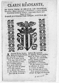 Clarin resonante  [Texto impreso] :  en cuyas voces se explican las grandezas... de la... ciudad de Valencia...