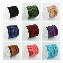 Propagace 3mmx1.5mm smíšený barva Faux Suede šňůra Leather Lace na oblečení Obuv výrobu šperků poznatky o 5m / role (Čína (pevninská část))