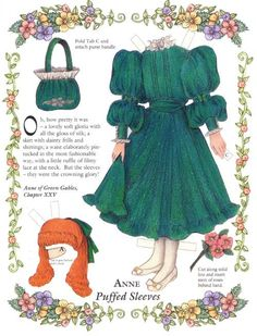 Anne of Greengables paperdolls