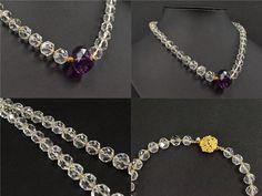 39408 水晶 アメジスト ネックレス/紫水晶/パワーストーン/天然石_画像3