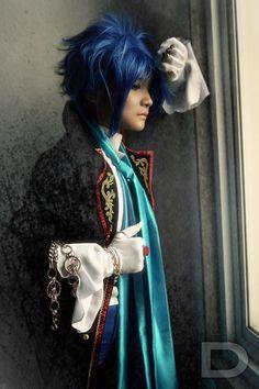 Hyoosuke Kun: Kaito from Vocaloid Sandplay version in Otaku House Cosplay Idol 2012