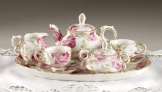 Victorian Rose Children's Tea Set -  Minature Set.... my future daughter must have this!
