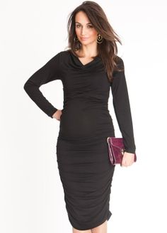 There's no better time to embrace the bodycon trend than when you're pregnant! $121.95 #maternitystyle #pregnancydress