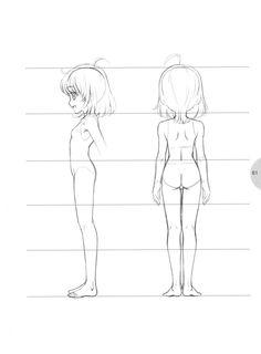 anime girl body outline certoon blockout in 2018 pinterest