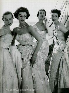 1950s Debutante style glamour.