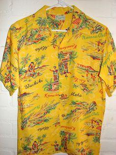 Lokelani - 40s Rayon DEAD STOCK Hawaiiana Vintage Hawaiian Shirt - TheHanaShirtCo
