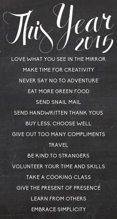 resolutions worth keeping #2015