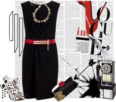 """""""Red White and Black"""" by adduncan ❤ liked on Polyvore"""