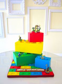 """Lego cake by """"A Wish and a Whisk Cakes"""""""