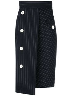 Купить Dorothee Schumacher oversized buttons pinstripe skirt.