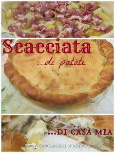 """Scacciata con le patate - Potatoes, sausages and cheese Sicilian """"Scacciata"""" recipe"""
