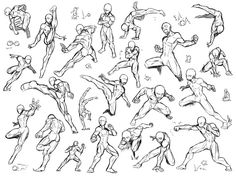 Fighting poses