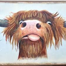 Image result for highland cow painting