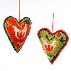 Fabric Patchwork Heart Ornament