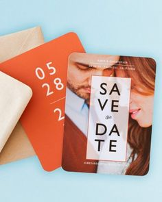 With a variety of shapes and styles, let the personality of the two of you shine in the perfect design for your save the date!