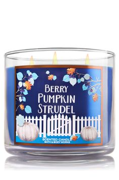 Berry Pumpkin Strudel 3-Wick Candle - Home Fragrance 1037181 - Bath & Body…