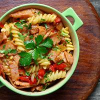Spicy Slow-Cooked Ham and Rotini SouNone