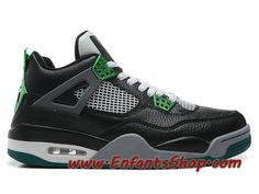 top fashion 6aeb8 29ba7 Air Jordan 4 Retro Oregon Ducks Chaussures Basket Jordan Pas Cher Pour  Homme Noir Vert 308497-511