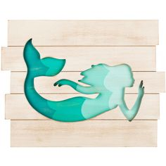Mermaid Cut-Out MDF Plaque | Hobby Lobby | 1277482