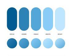 Flat Color Palette, Color Palette Challenge, Pastel Colour Palette, Blue Color Schemes, Colour Pallete, Gradient Color, Pantone Colour Palettes, Pantone Color, Paleta De Color Hexadecimal